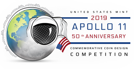 Apollo 11 50th Anniversary Commemorative Coin Design Competition logo