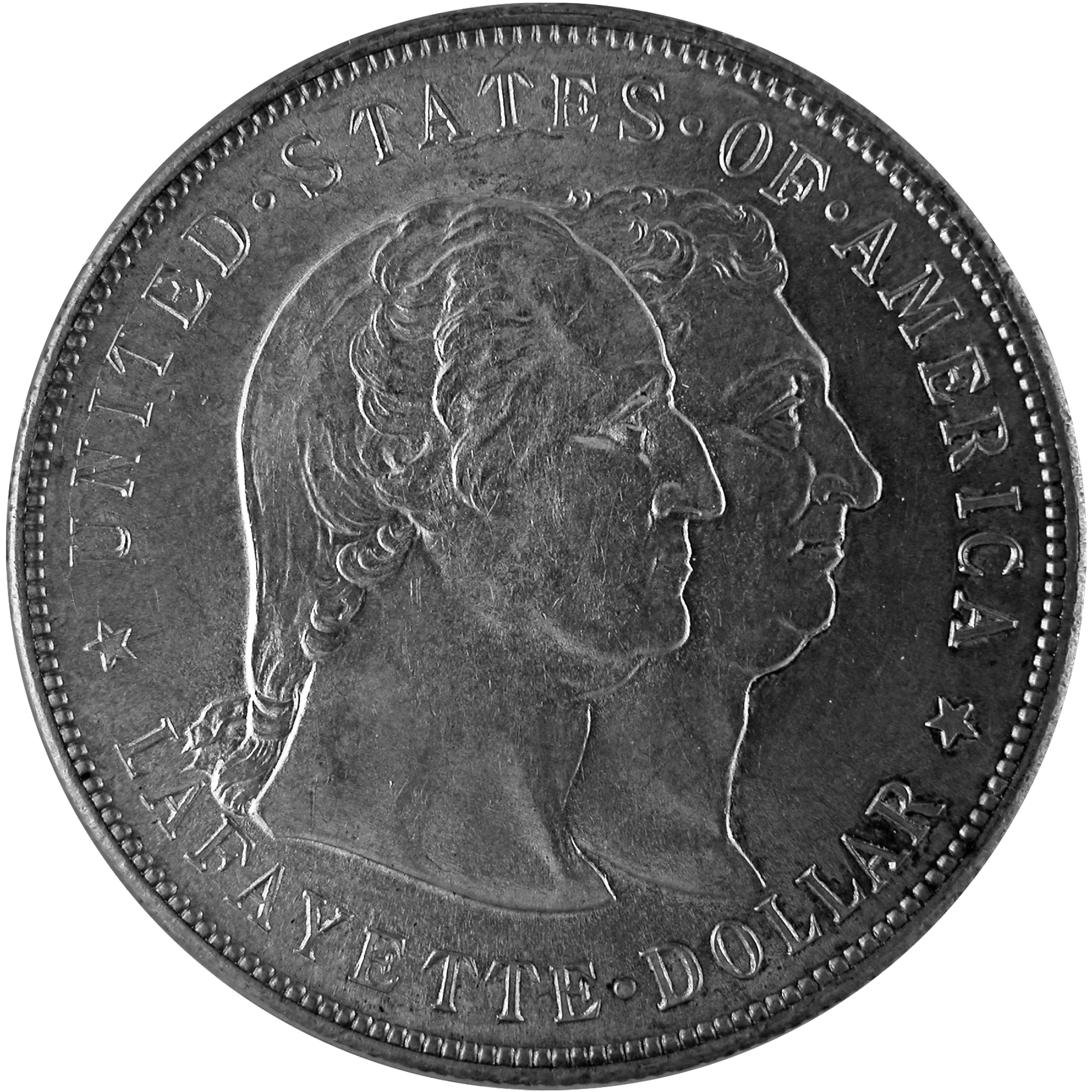 1900 General Lafayette Commemorative Silver One Dollar Coin Obverse