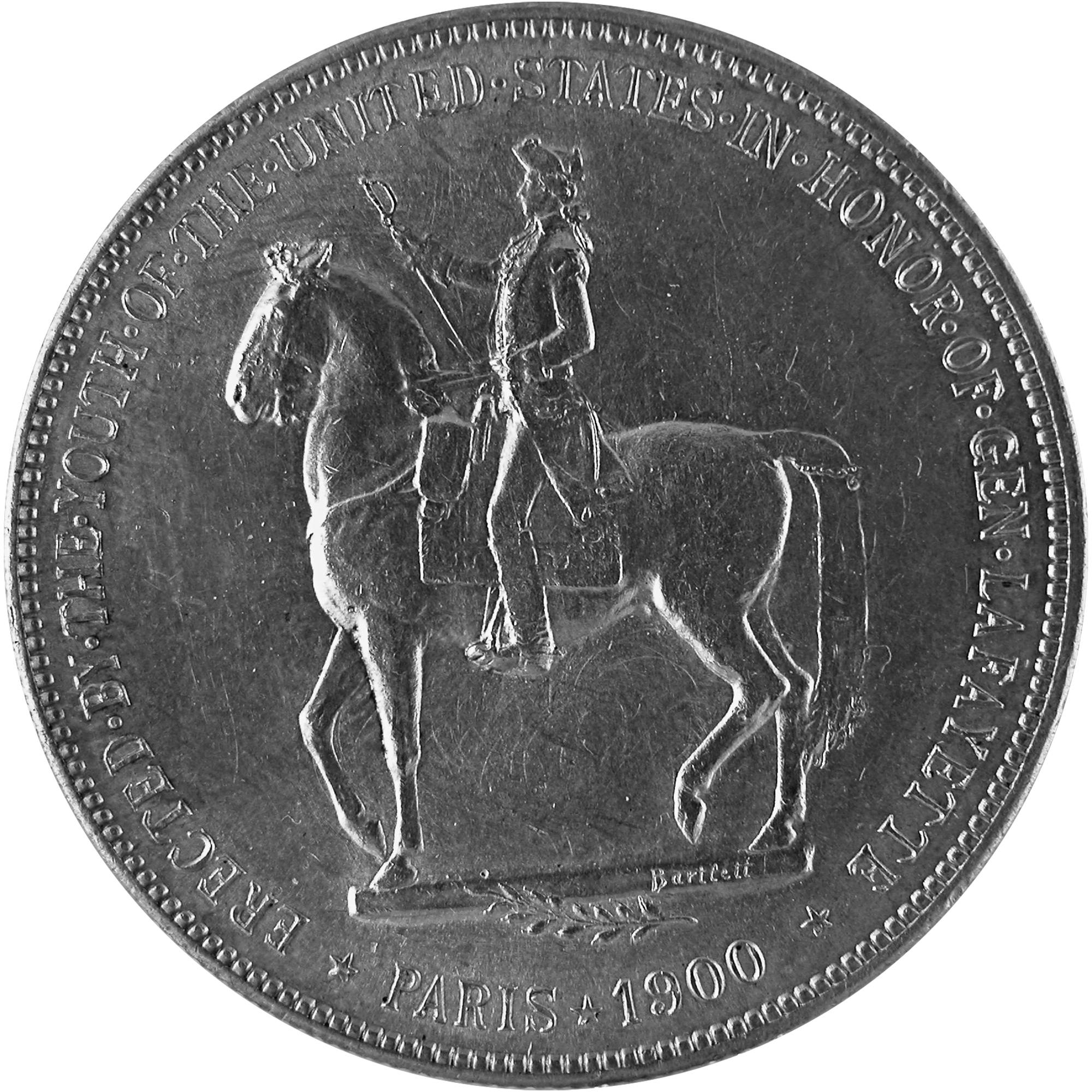 1900 General Lafayette Commemorative Silver One Dollar Coin Reverse