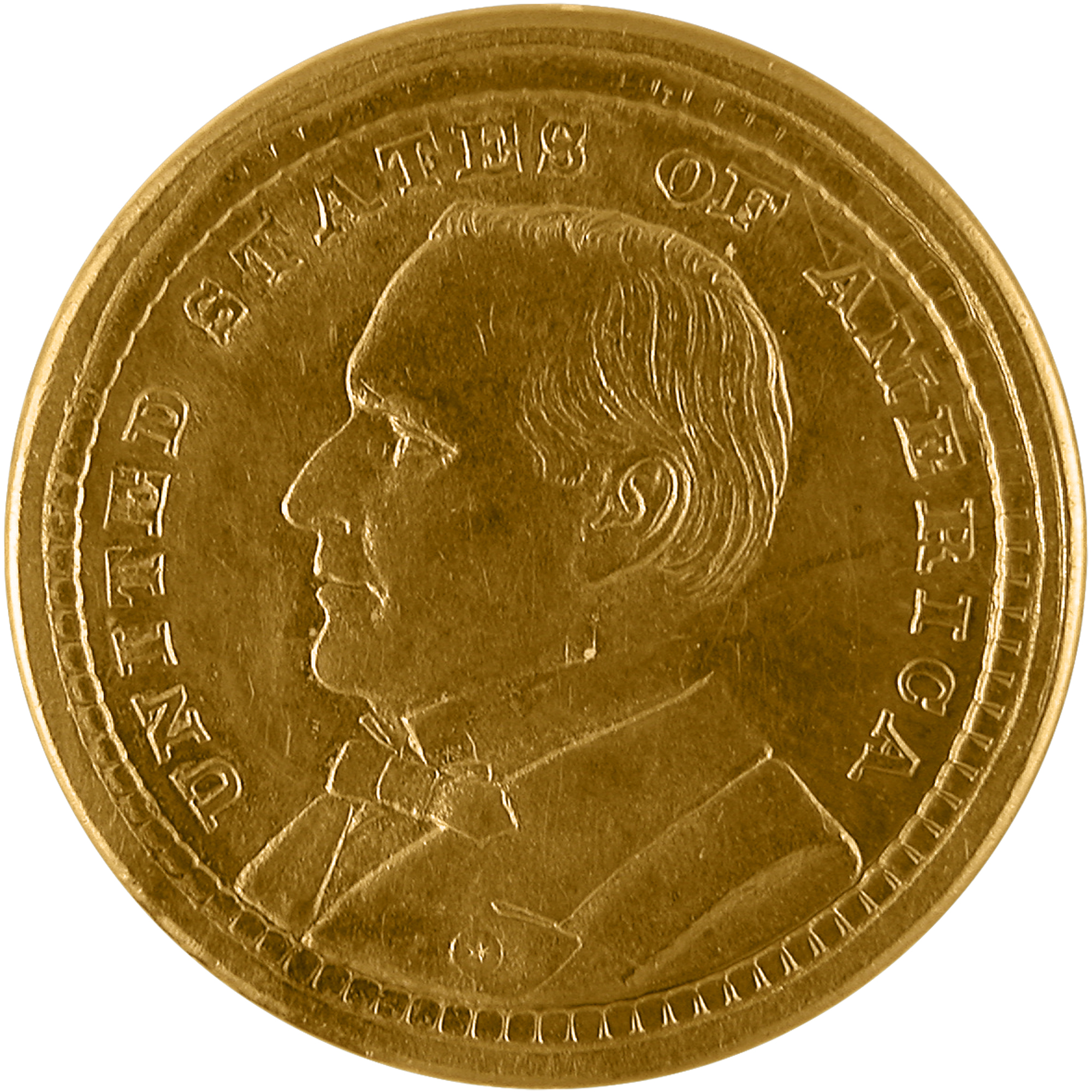 1903 Louisiana Purchase Exposition William Mckinley Commemorative Gold One Dollar Coin Obverse