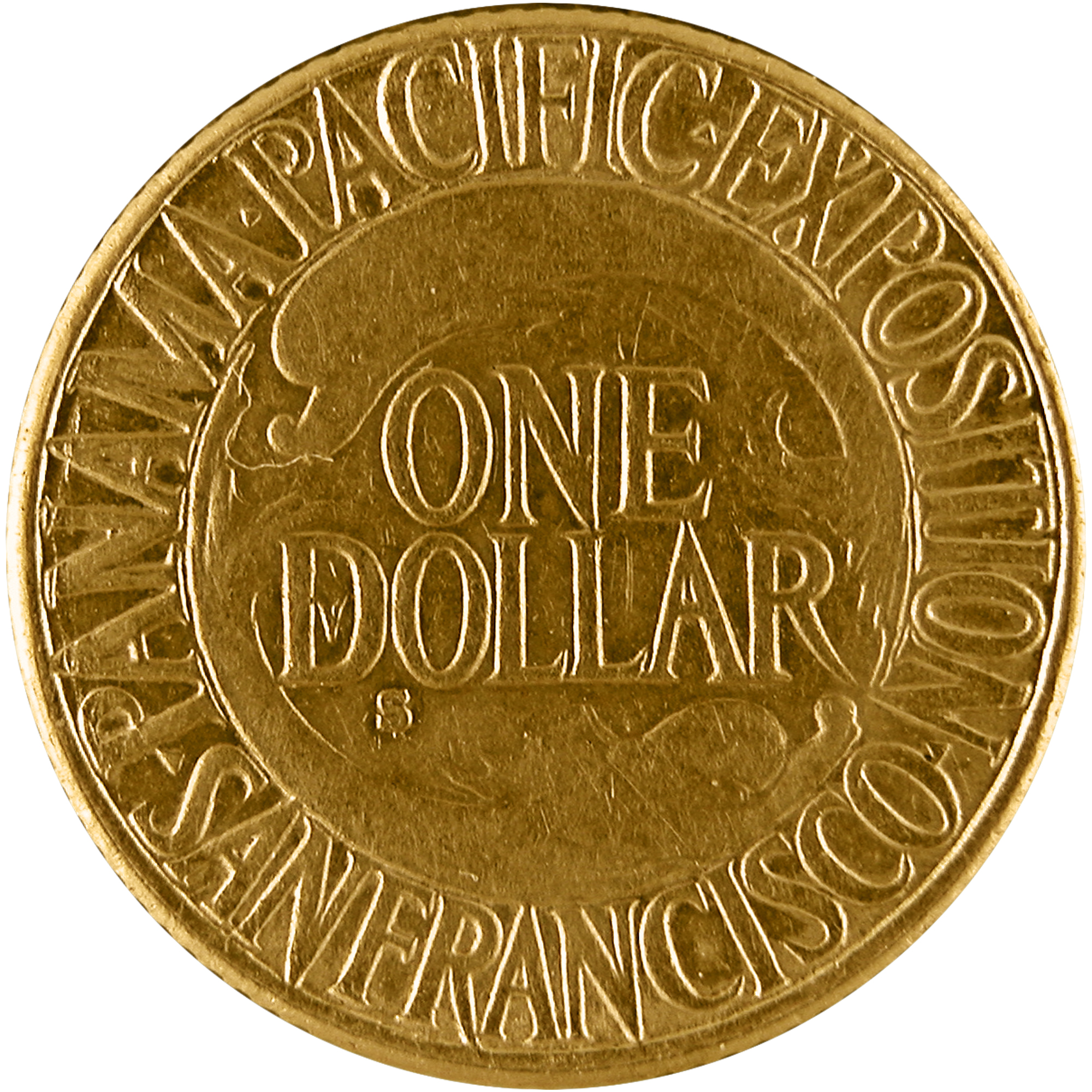 1915 Panama Pacific Exposition Commemorative Gold One Dollar Coin Reverse