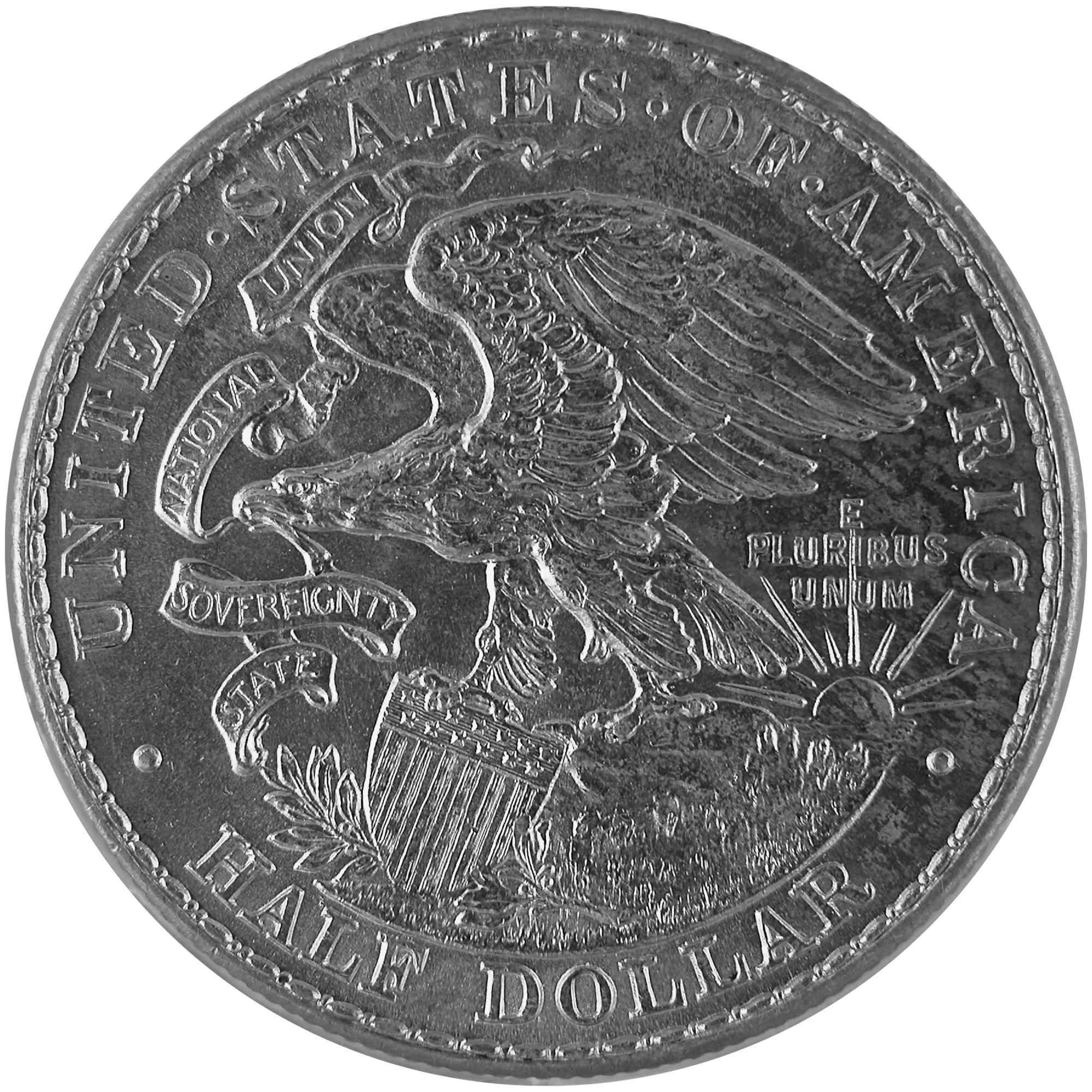 1918 Illinois Centennial Commemorative Silver Half Dollar Coin Reverse