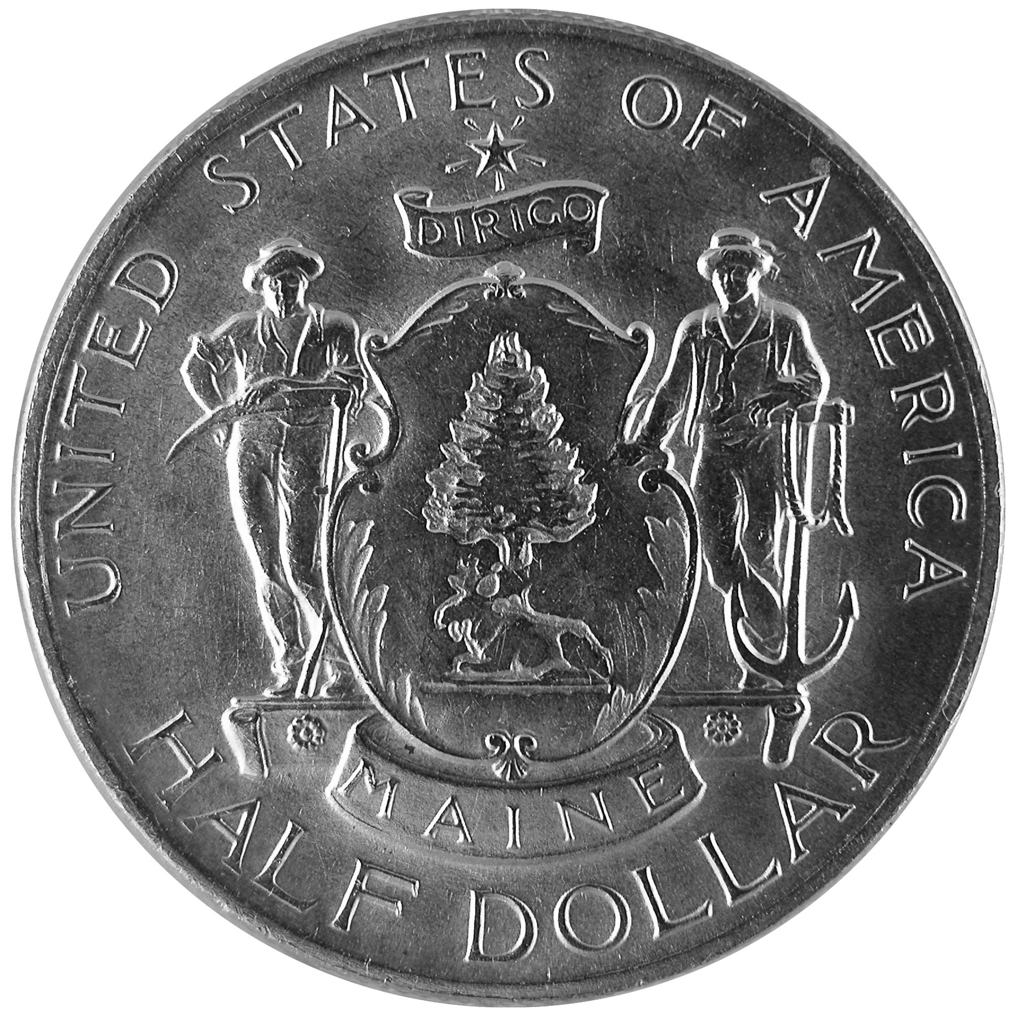1920 Maine Centennial Commemorative Silver Half Dollar Coin Obverse
