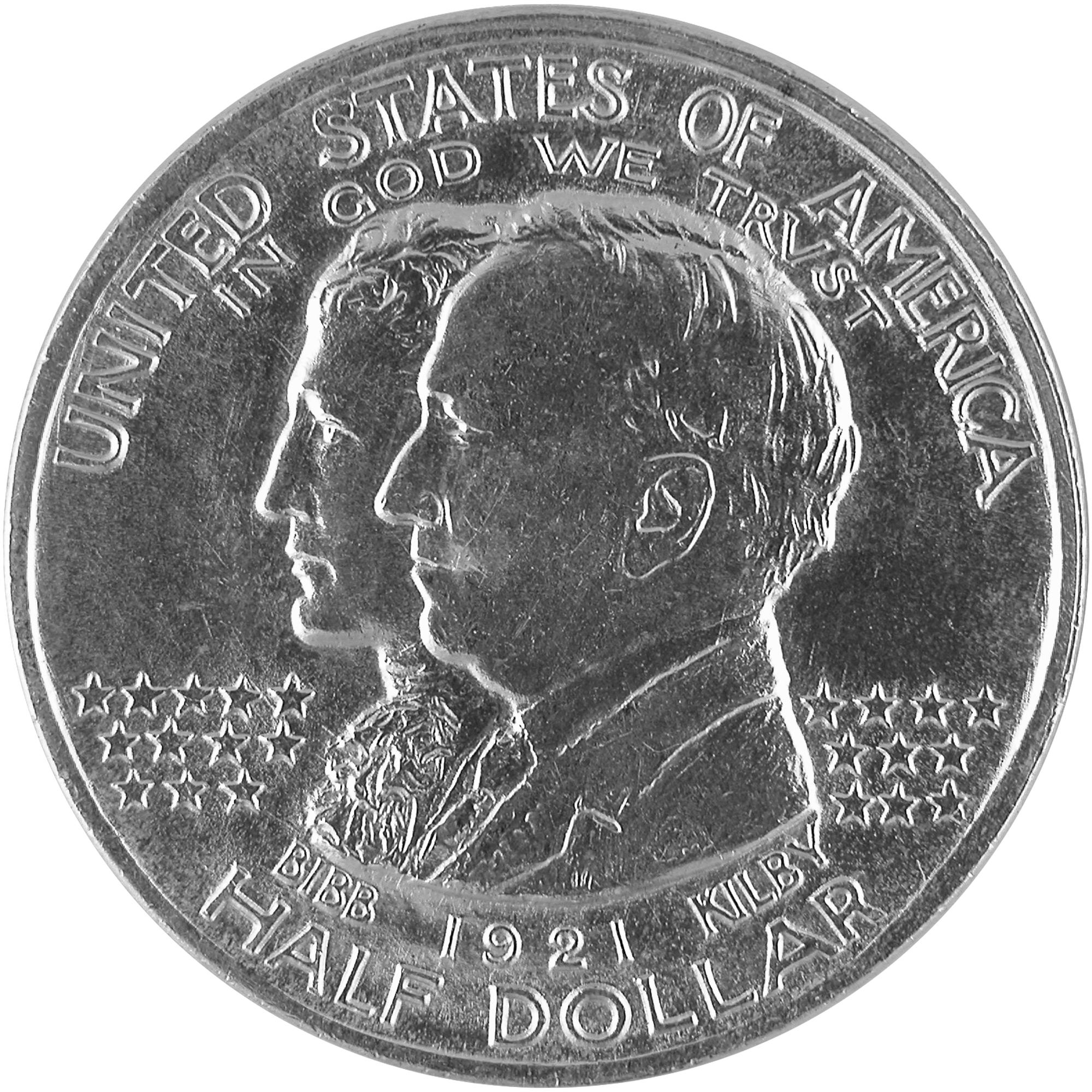 1921 Alabama Centennial Commemorative Silver Half Dollar Coin Obverse