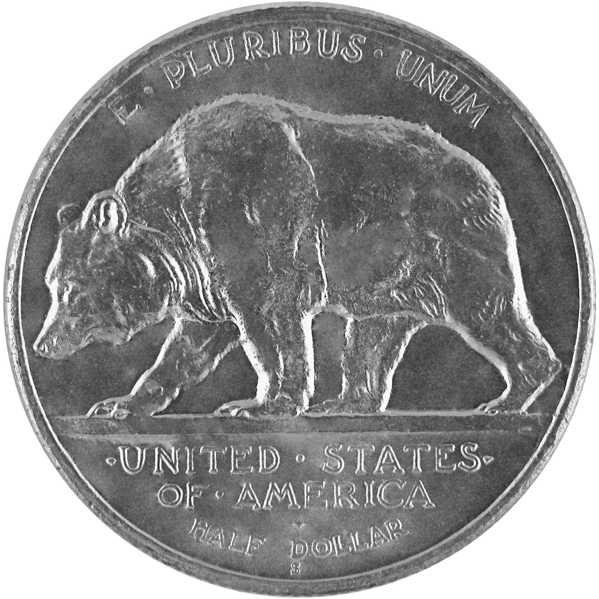 1925 California Damond Jubilee Commemorative Silver Half Dollar Coin Reverse