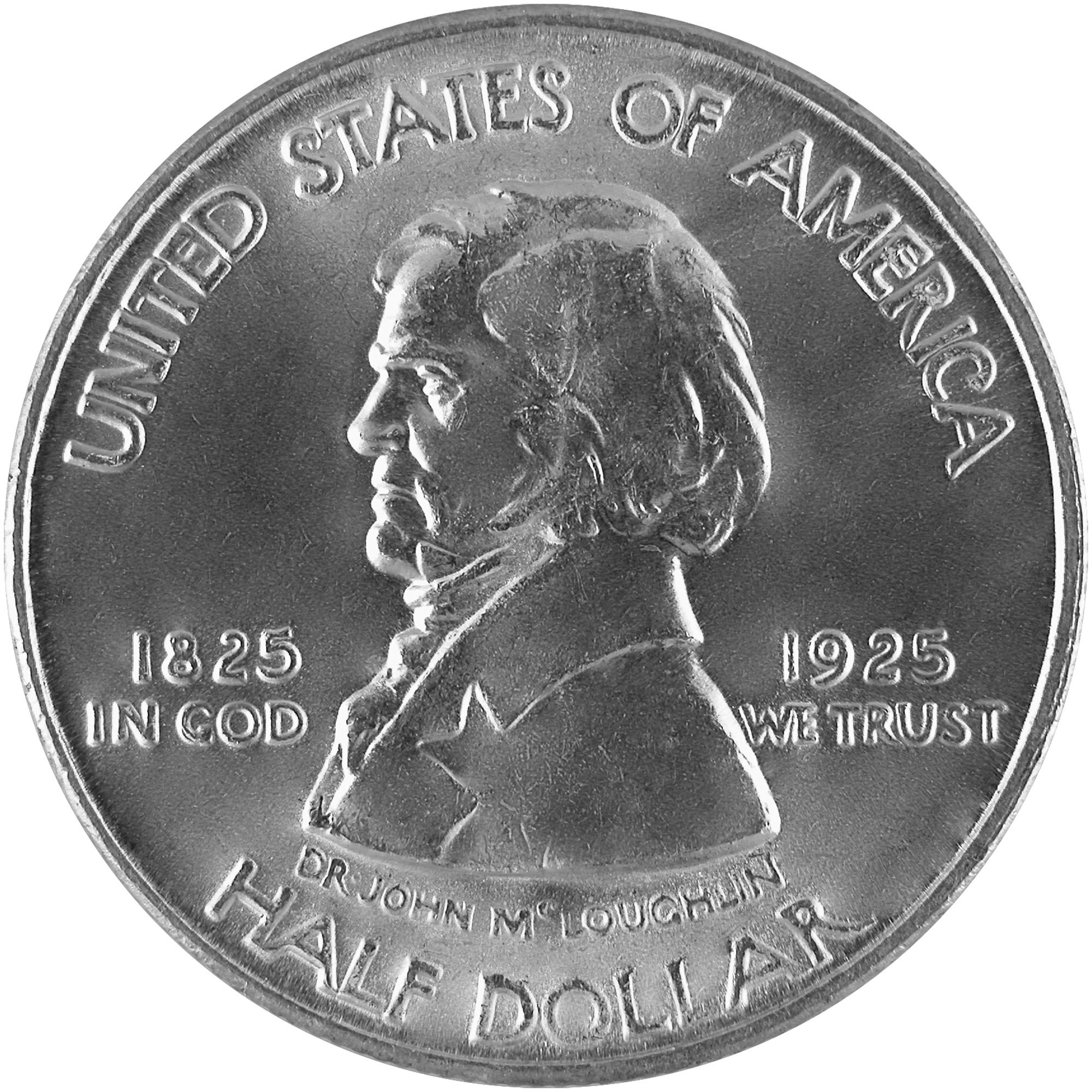 1925 Fort Vancouver Centennial Commemorative Silver Half Dollar Coin Obverse