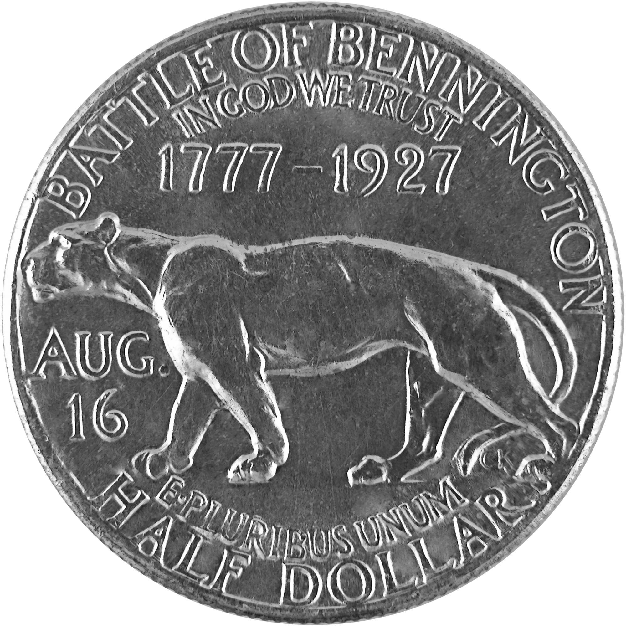 1927 Vermont Sesquicentennial Commemorative Silver Half Dollar Coin Reverse
