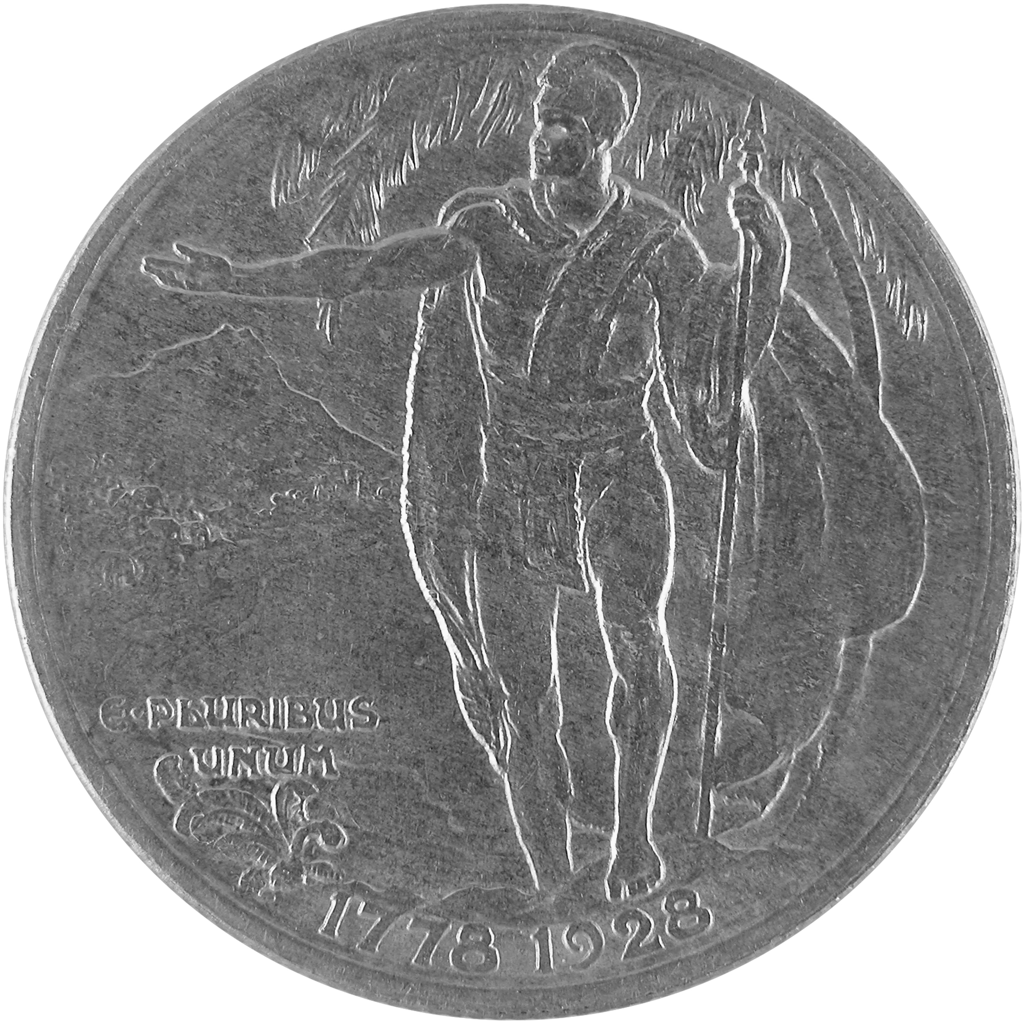 1928 Hawaiian Sesquicentennial Commemorative Silver Half Dollar Coin Reverse
