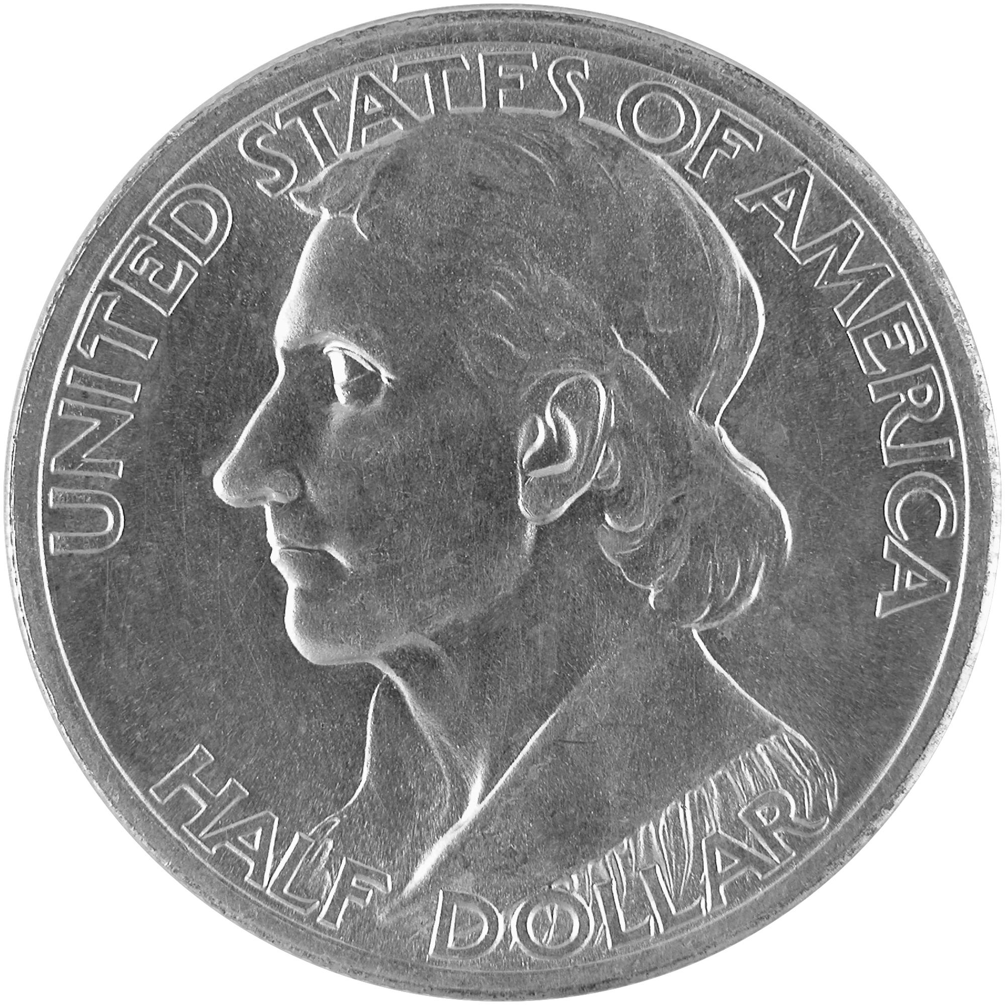 1934 Daniel Boone Bicentennial Commemorative Silver Half Dollar Coin Obverse