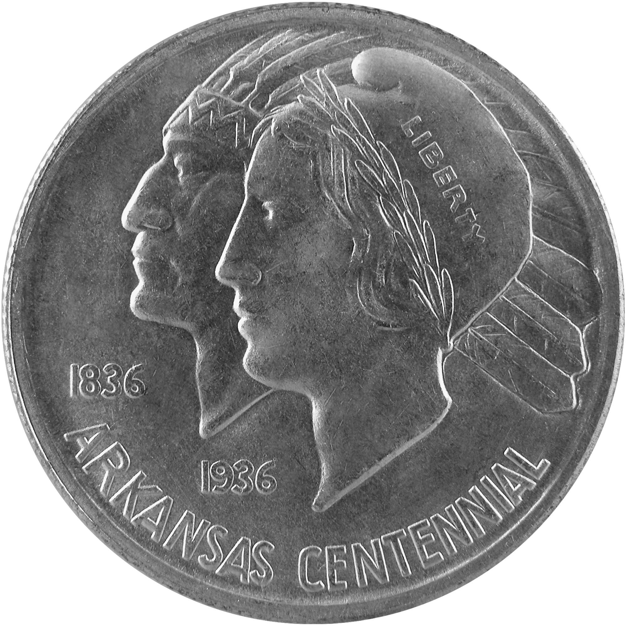 1935 Arkansas Centennial Commemorative Silver Half Dollar Coin Reverse