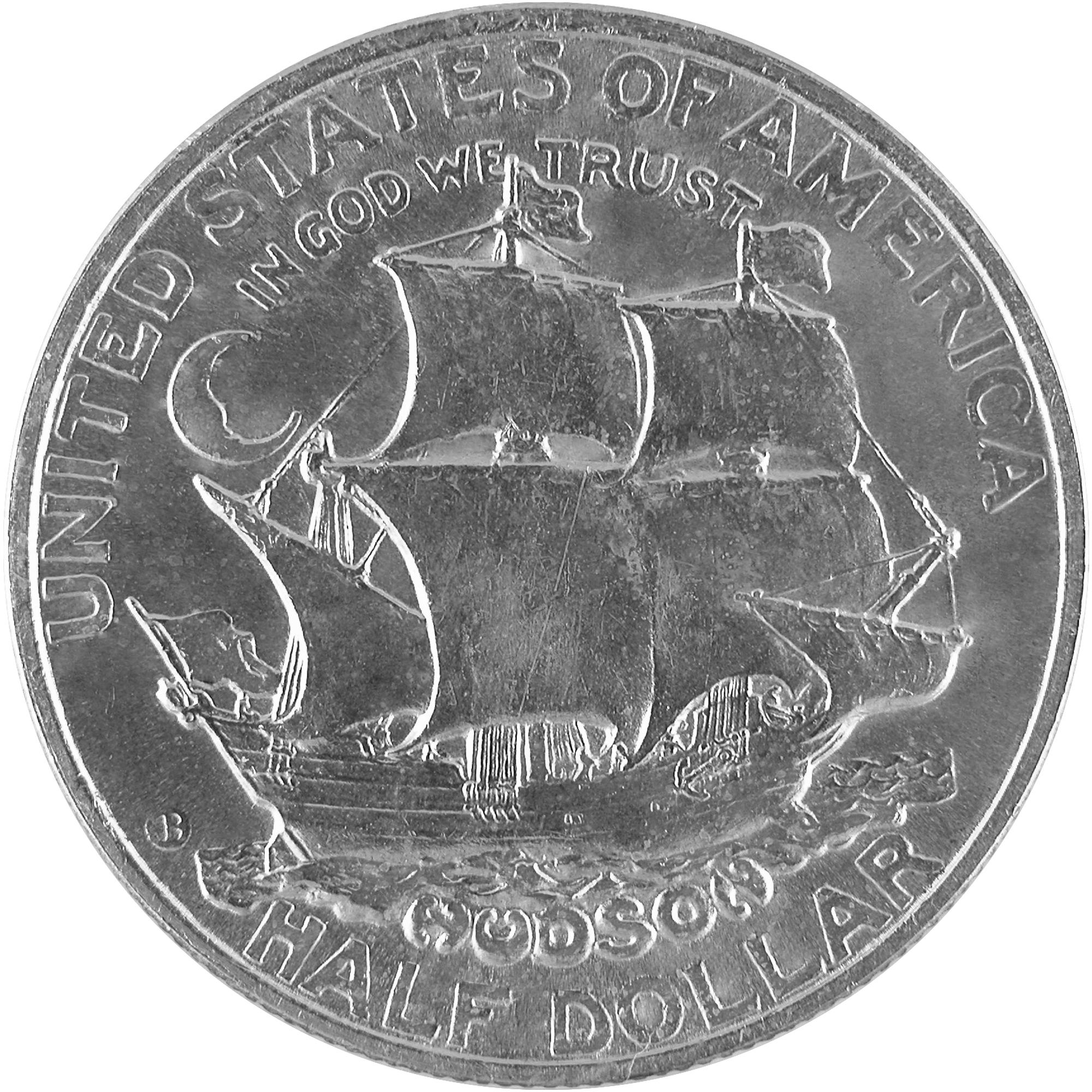 1935 Hudson New York Sesquicentennial Commemorative Silver Half Dollar Coin Reverse