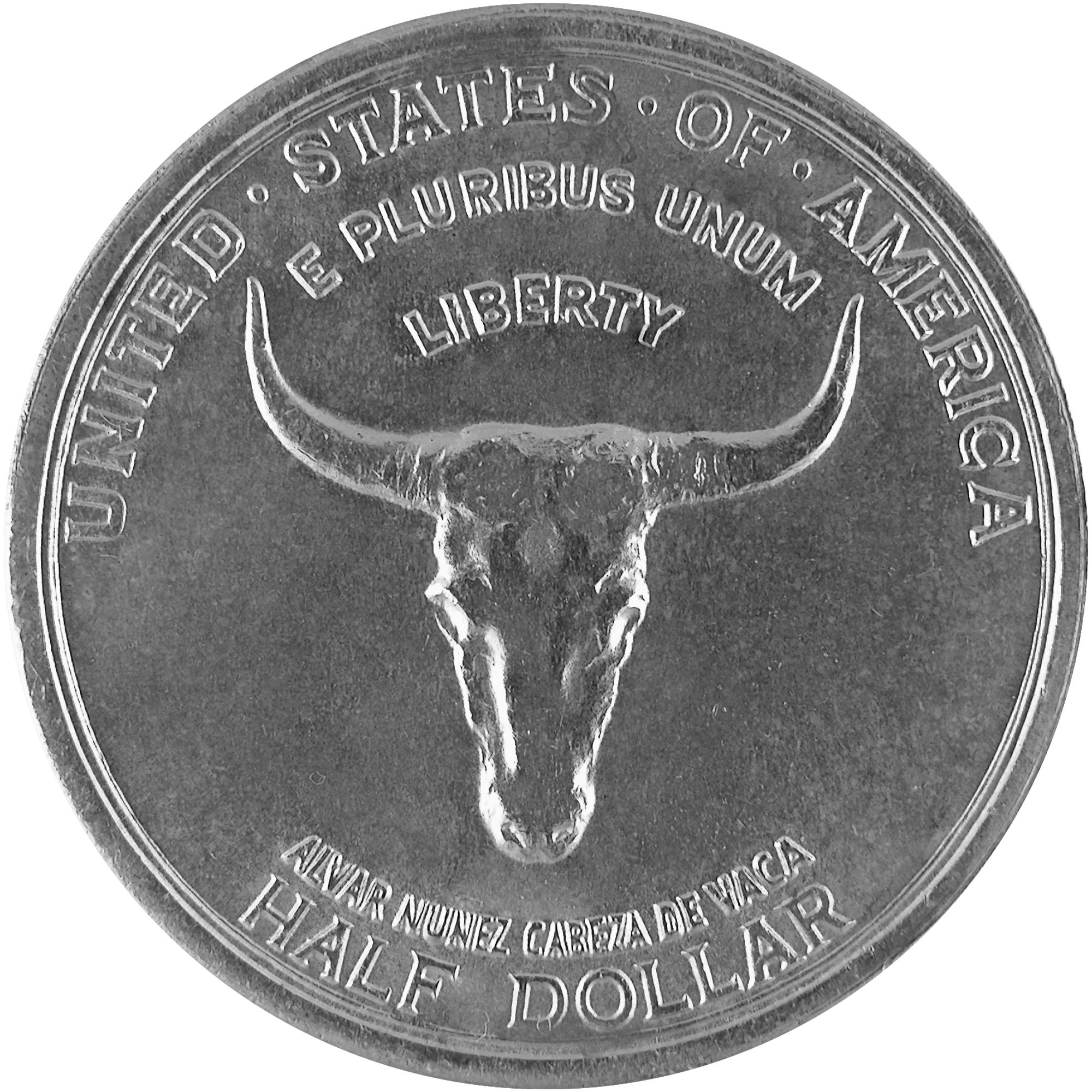 1935 Old Spanish Trail Quadricentennial Commemorative Silver Half Dollar Coin Obverse