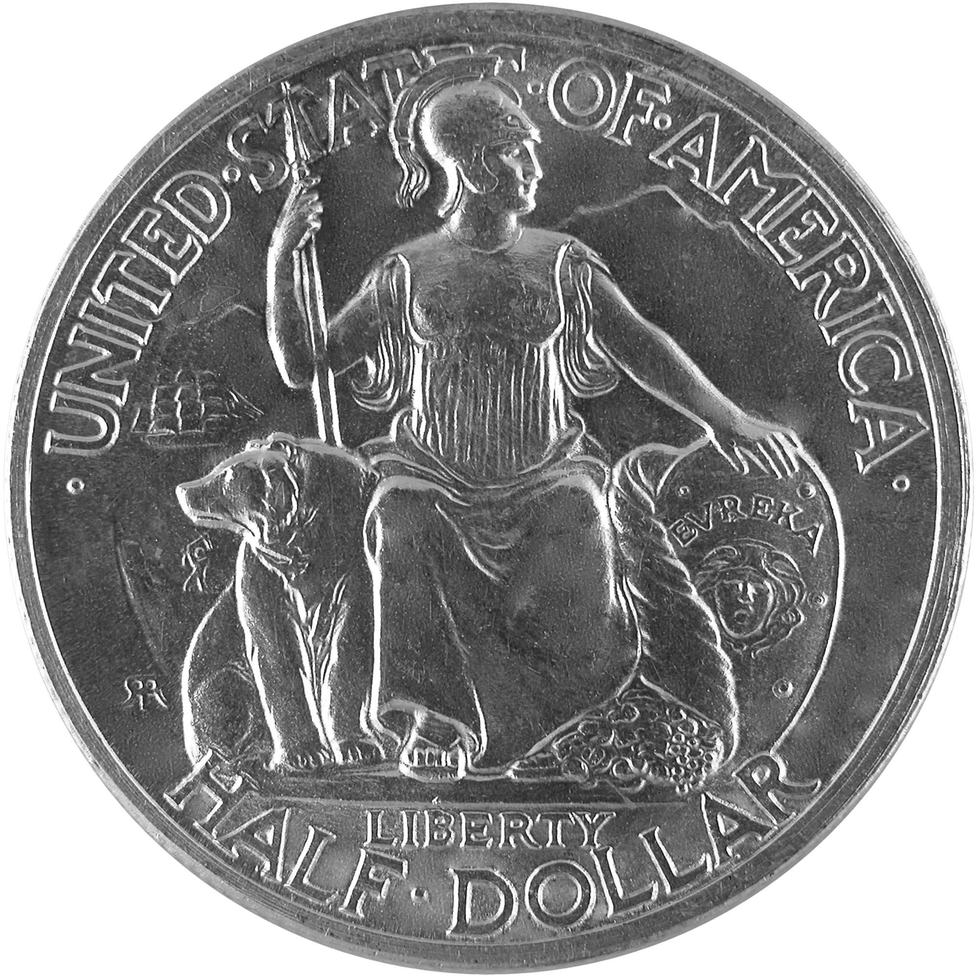 1935 San Diego California Pacific Exposition Commemorative Silver Half Dollar Coin Obverse