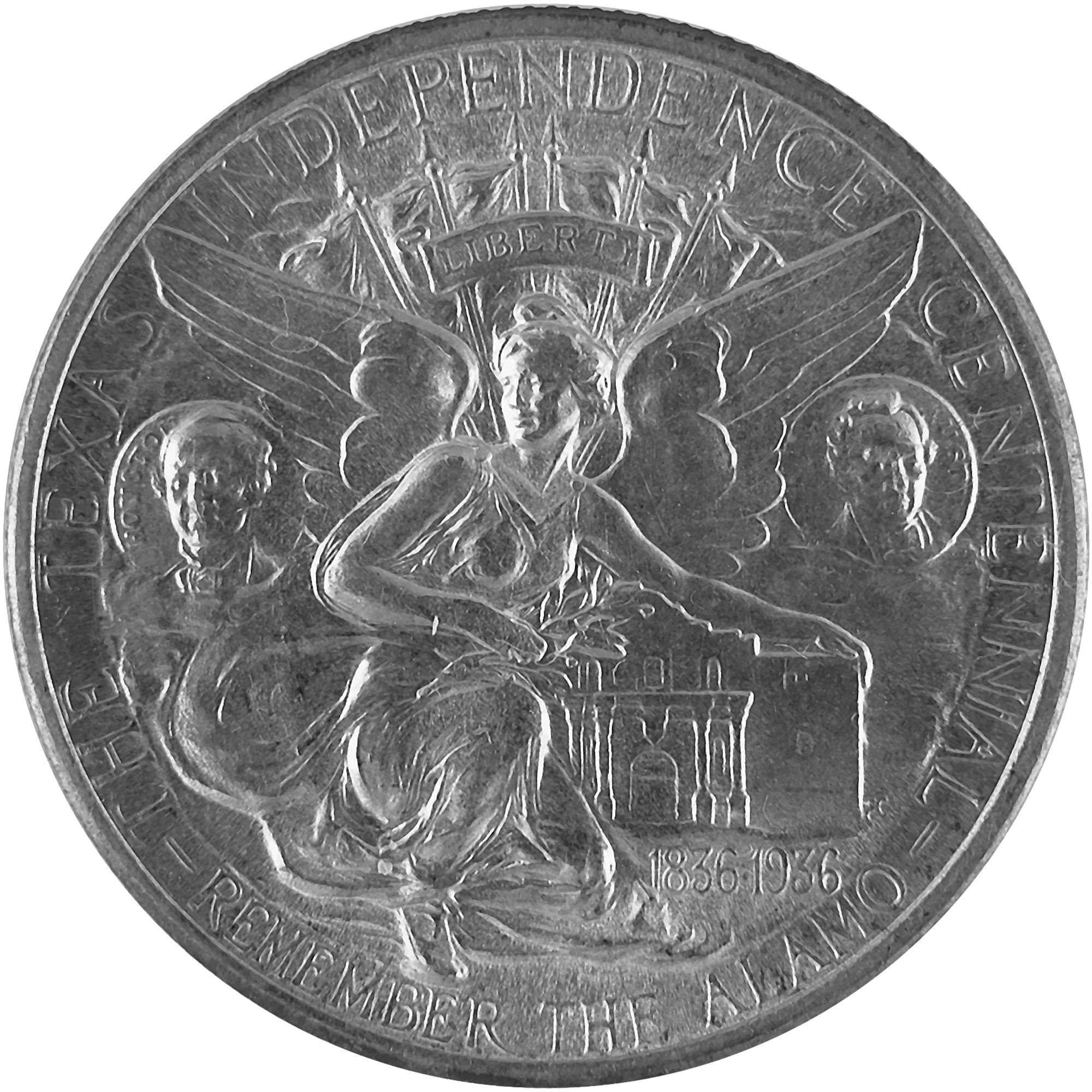 1935 Texas Centennial Commemorative Silver Half Dollar Coin Reverse