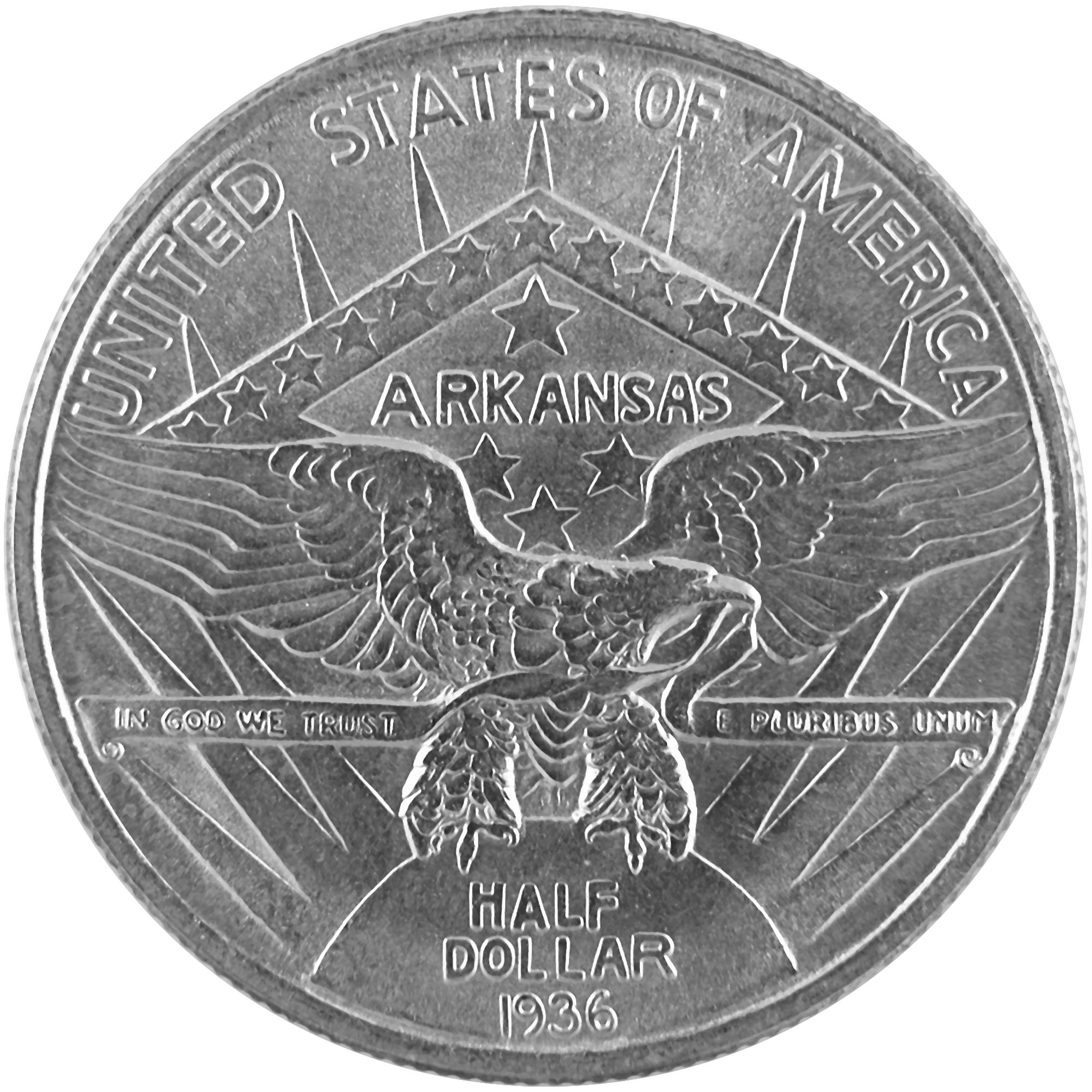 1936 Arkansas Centennial Joseph T. Robinson Commemorative Silver Half Dollar Coin Obverse