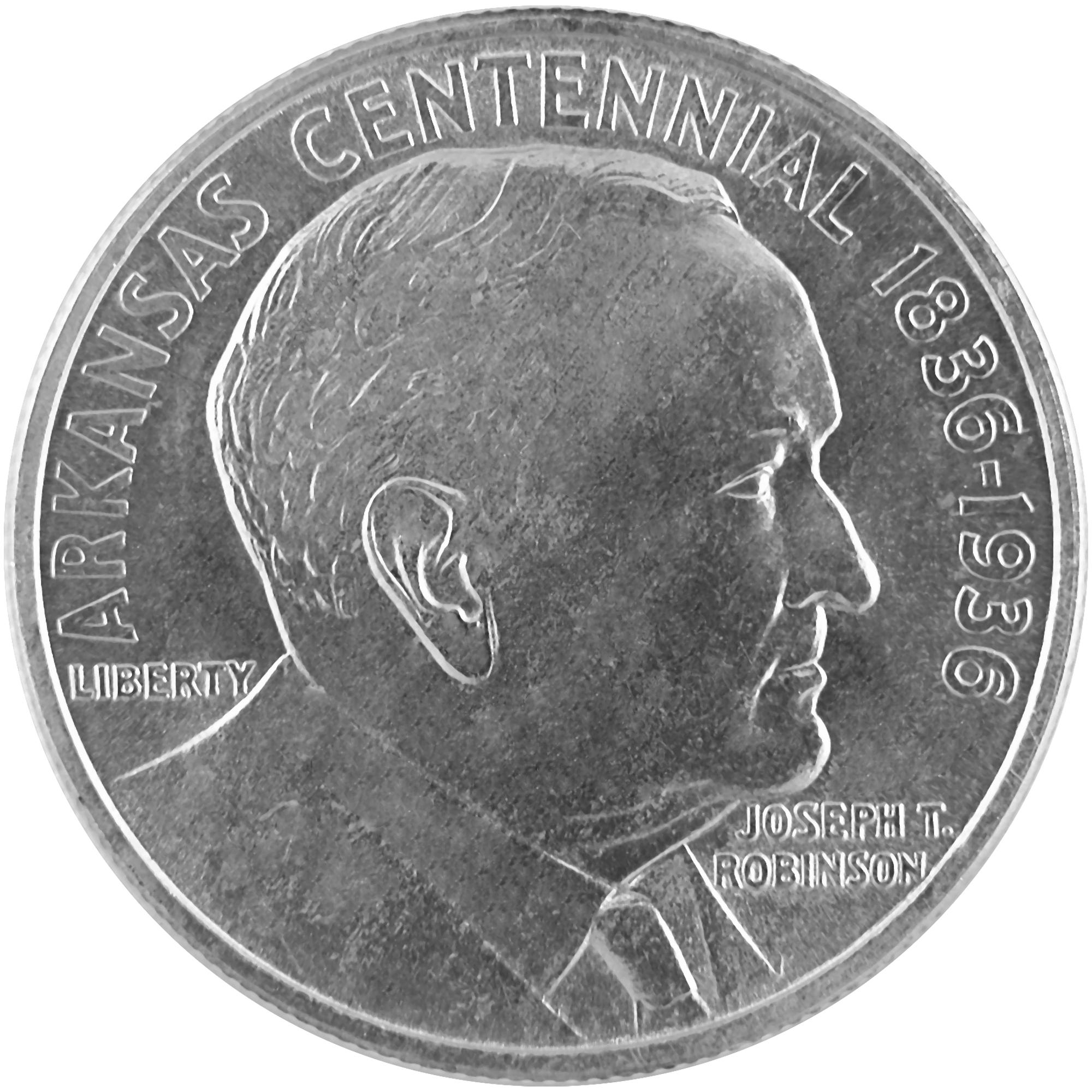 1936 Arkansas Centennial Joseph T. Robinson Commemorative Silver Half Dollar Coin Reverse
