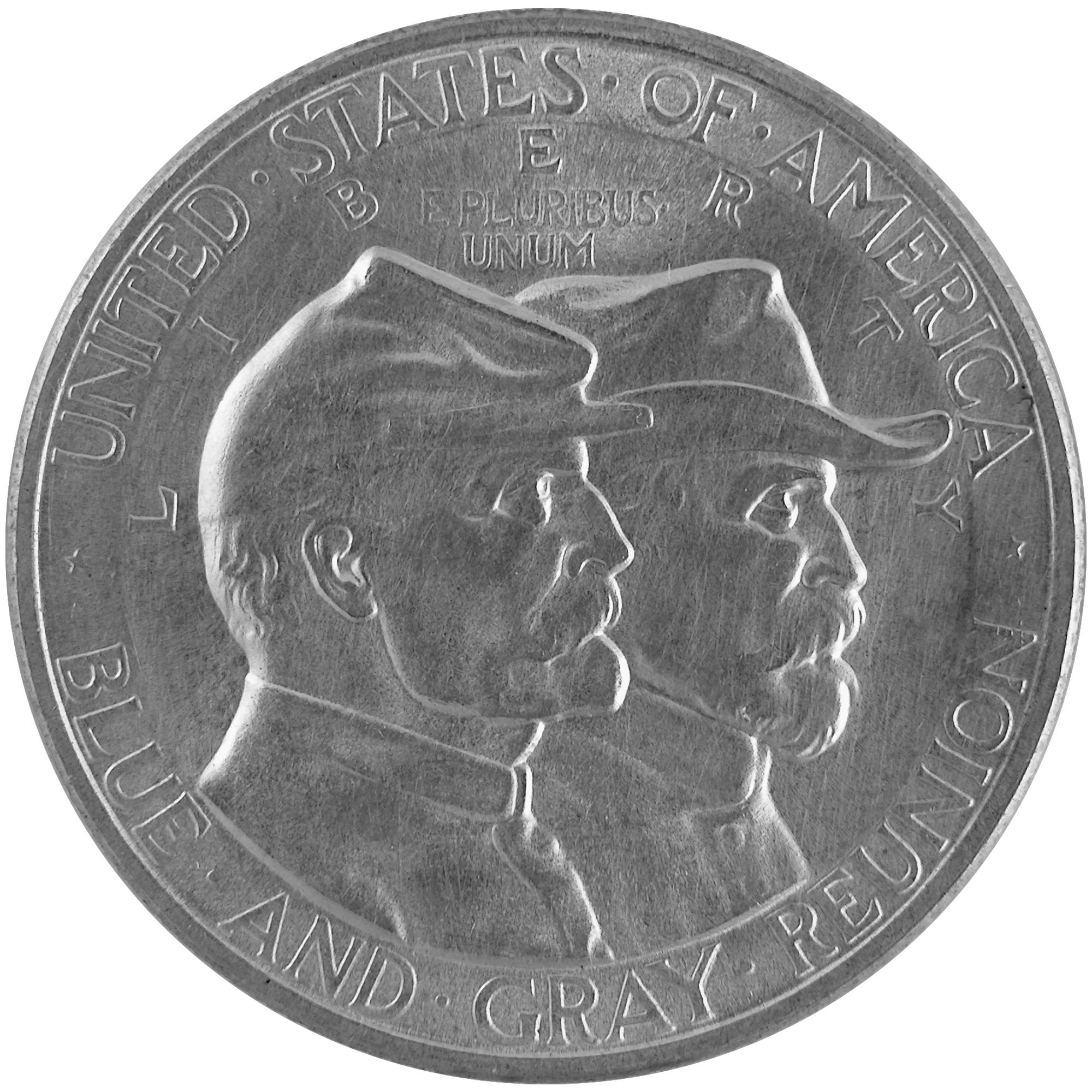 1936 Battle Of Gettysburg Commemorative Silver Half Dollar Coin Obverse
