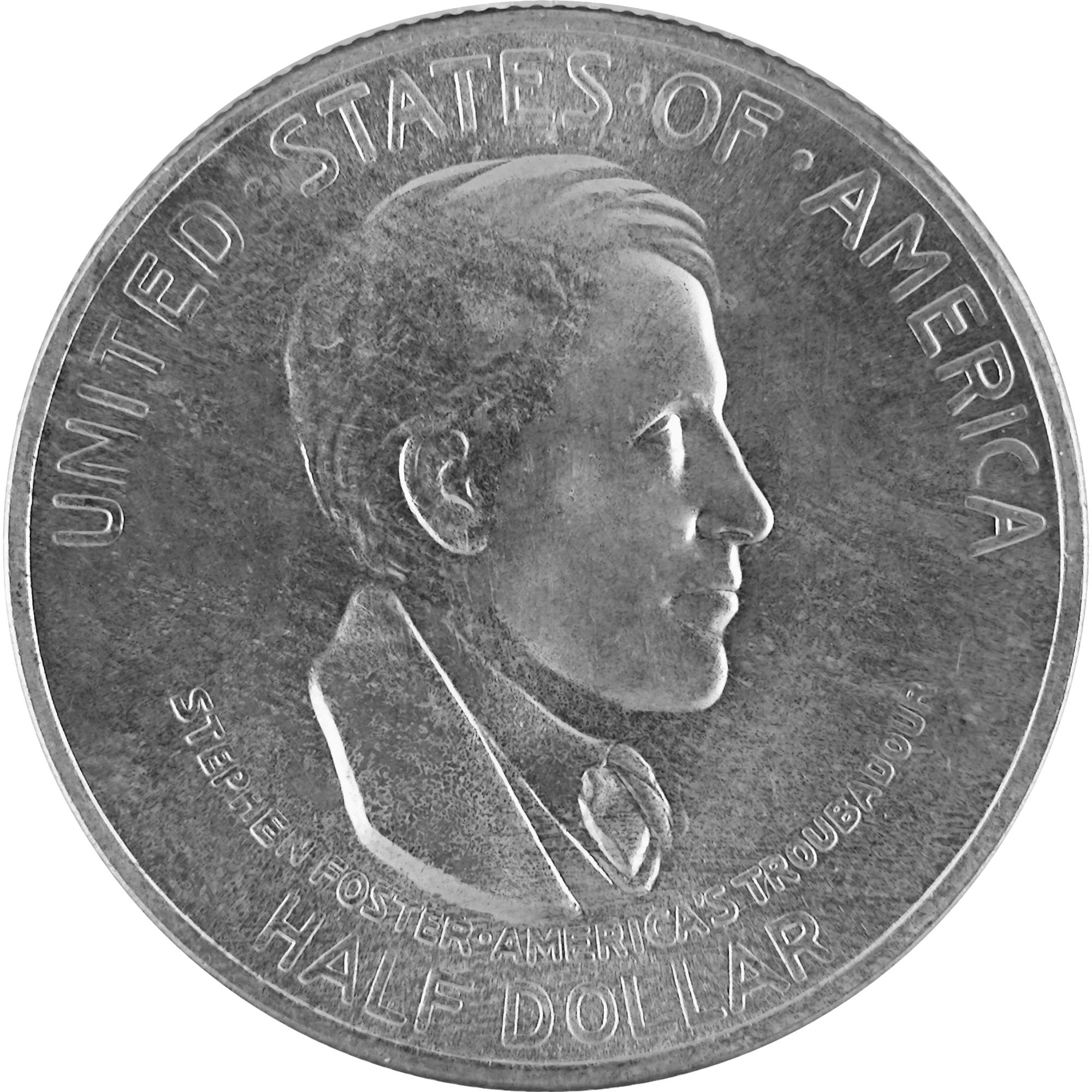 1936 Cincinnati Music Center Fiftieth Anniversary Commemorative Silver Half Dollar Coin Obverse