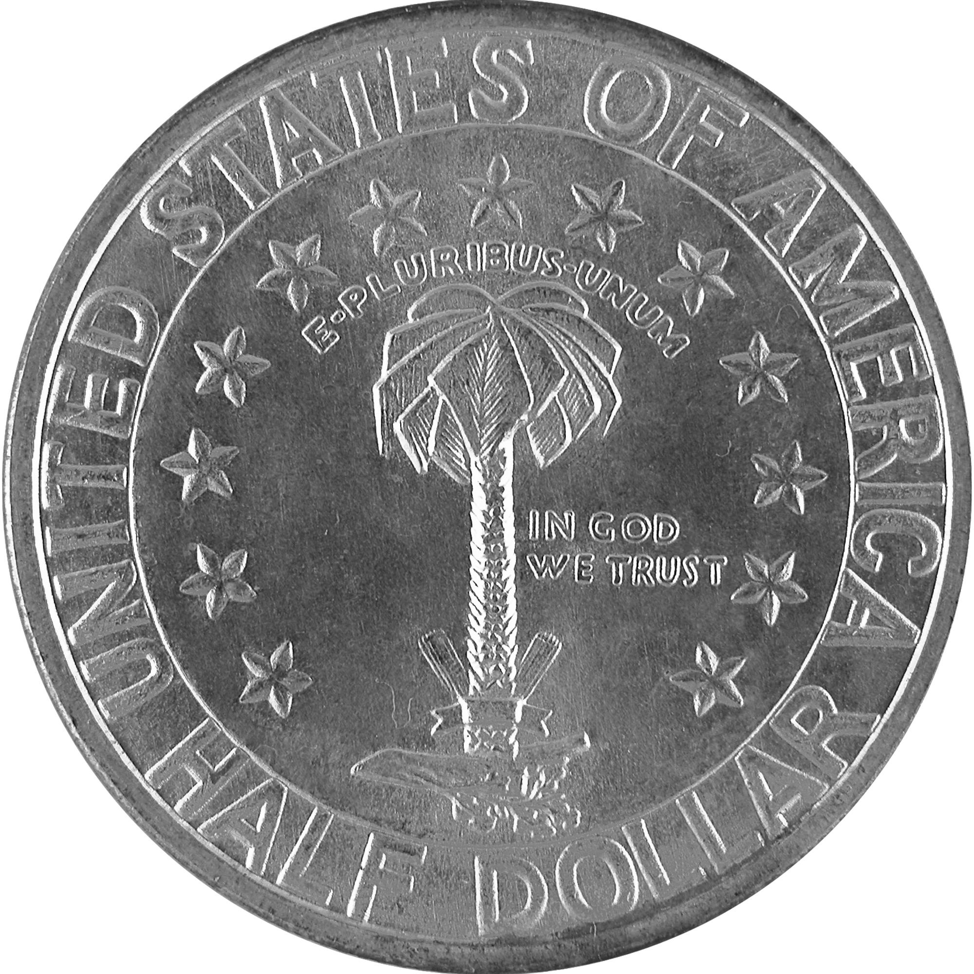 1936 Columbia South Carolina Sesquicentennial Commemorative Silver Half Dollar Coin Reverse
