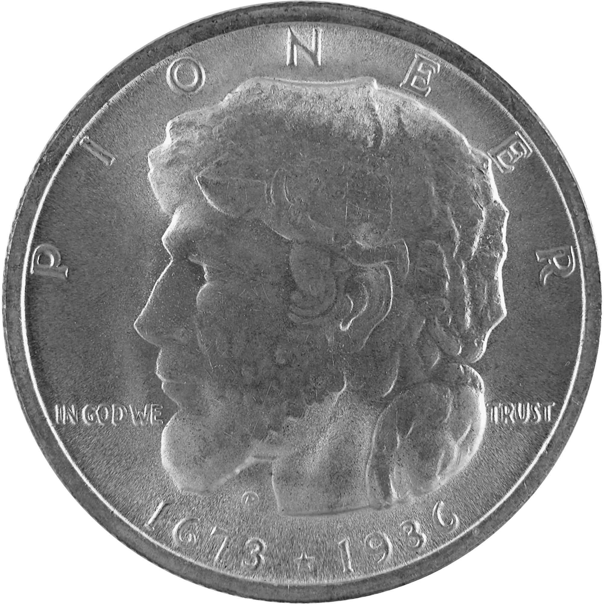 1936 Elgin Illinois Centennial Commemorative Silver Half Dollar Coin Obverse