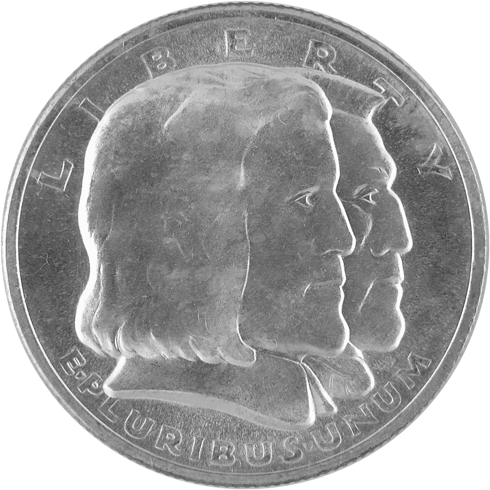 1936 Long Island Tercentenary Commemorative Silver Half Dollar Coin Obverse