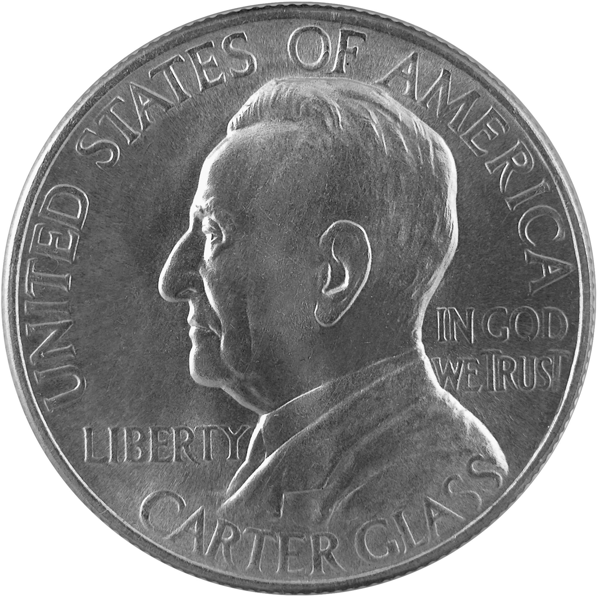 1936 Lynchburg Virginia Sesquicentennial Commemorative Silver Half Dollar Coin Obverse