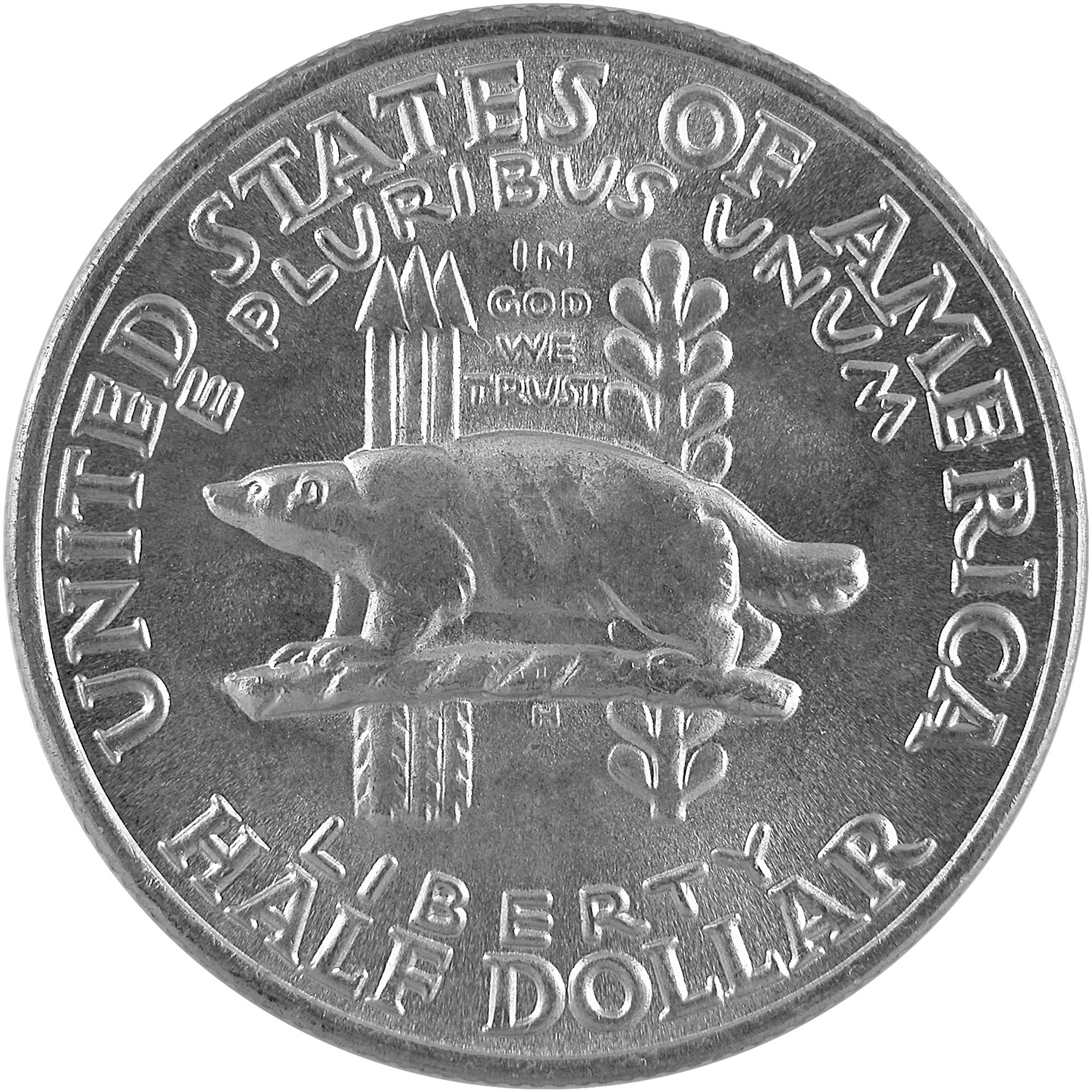 1936 Wisconsin Territory Centennial Commemorative Silver Half Dollar Coin Obverse