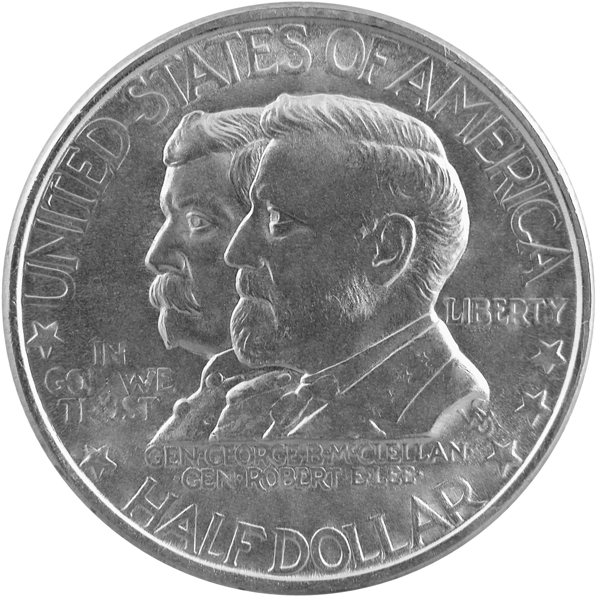 1937 Battle Of Antietam Seventy Fifth Anniversary Commemorative Silver Half Dollar Coin Obverse