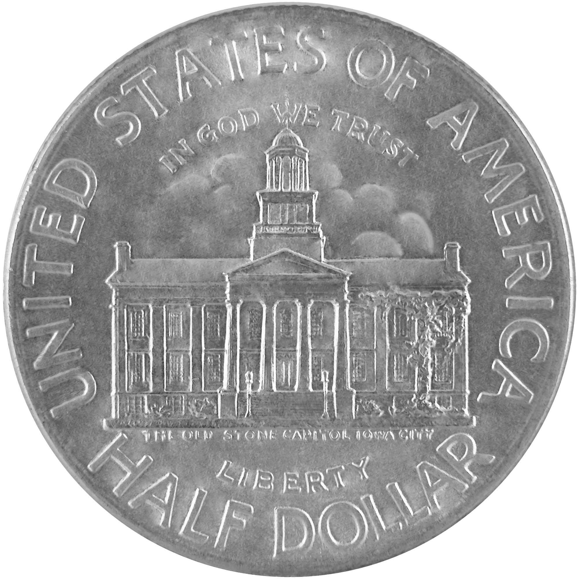 1946 Iowa Statehood Centennial Commemorative Silver Half Dollar Coin Obverse