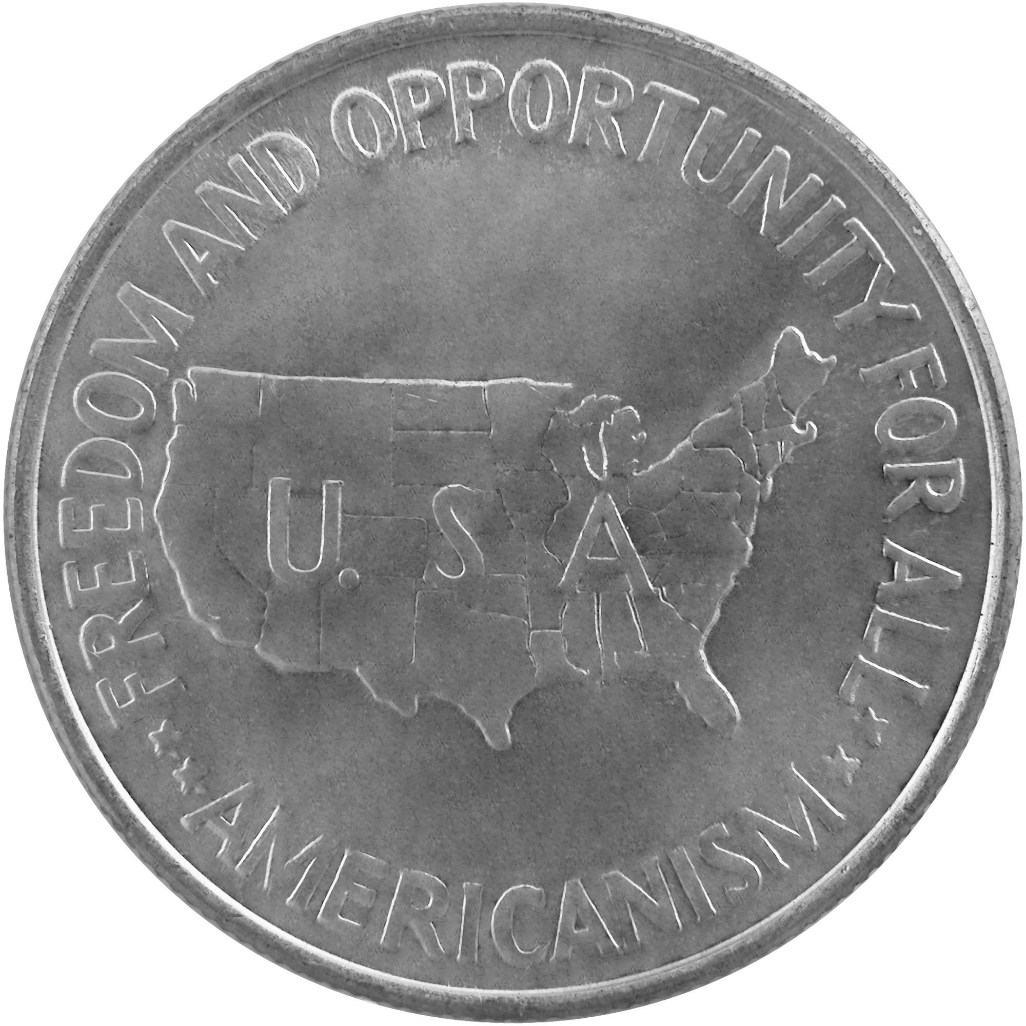 1952 George W. Carver Booker T. Washington Commemorative Silver Half Dollar Coin Reverse