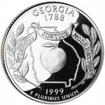 1999 50 State Quarters Coin Georgia Proof Reverse