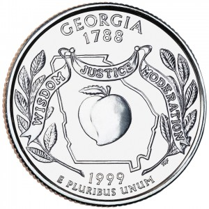 1999 50 State Quarters Coin Georgia Uncirculated Reverse