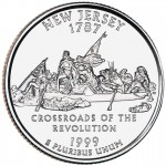 1999 50 State Quarters Coin New Jersey Uncirculated Reverse