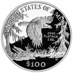 1999 American Eagle Platinum One Ounce Proof Coin Reverse