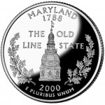 2000 50 State Quarters Coin Maryland Proof Reverse