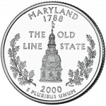 2000 50 State Quarters Coin Maryland Uncirculated Reverse