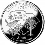 2000 50 State Quarters Coin South Carolina Proof Reverse