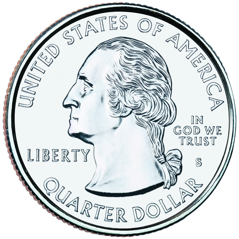 2000 50 State Quarters Coin Uncirculated Obverse