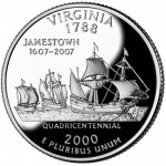2000 50 State Quarters Coin Virginia Proof Reverse