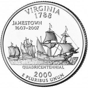 2000 50 State Quarters Coin Virginia Uncirculated Reverse