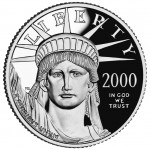 2000 American Eagle Platinum One Ounce Proof Coin Obverse