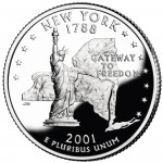 2001 50 State Quarters Coin New York Proof Reverse