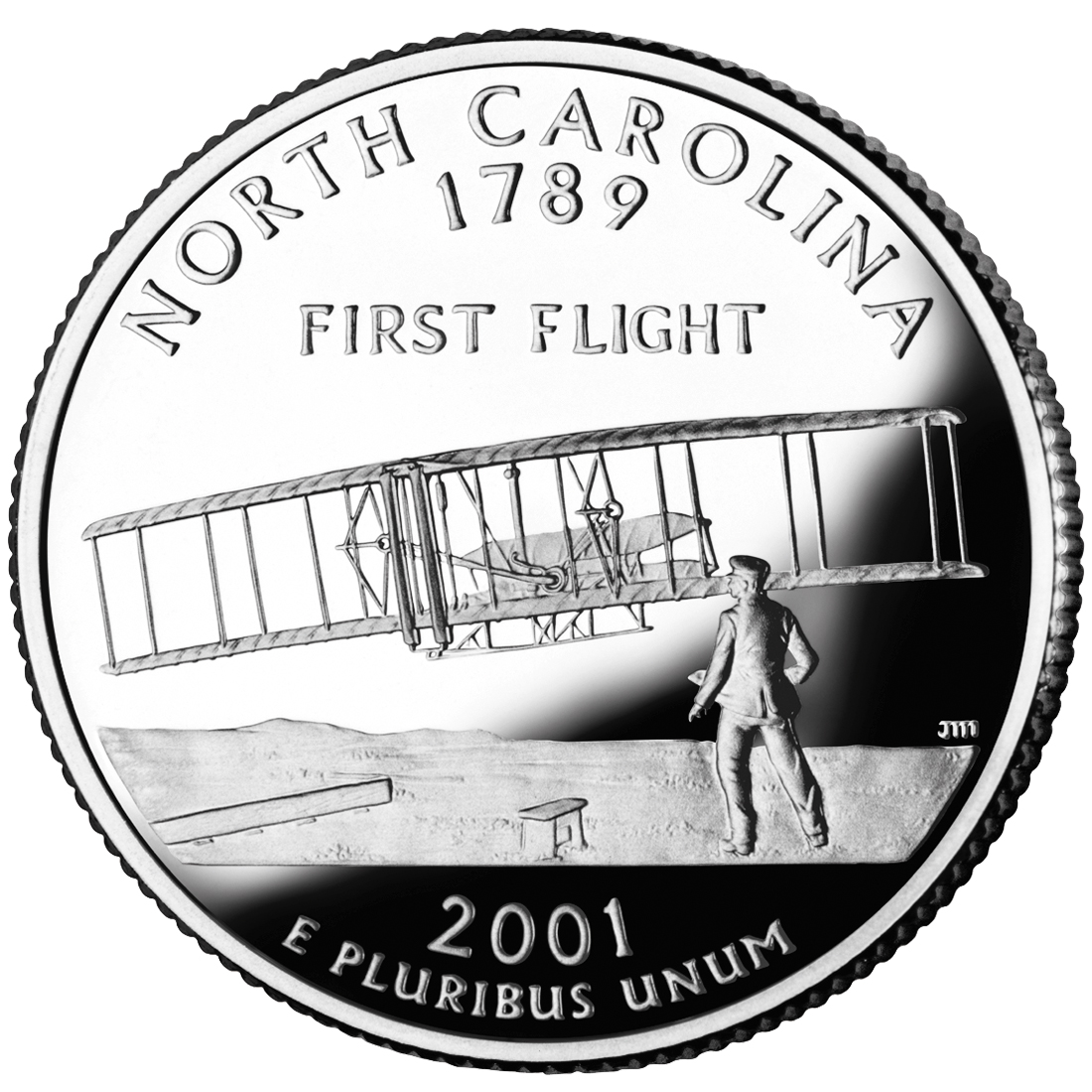 2001 50 State Quarters Coin North Carolina Proof Reverse