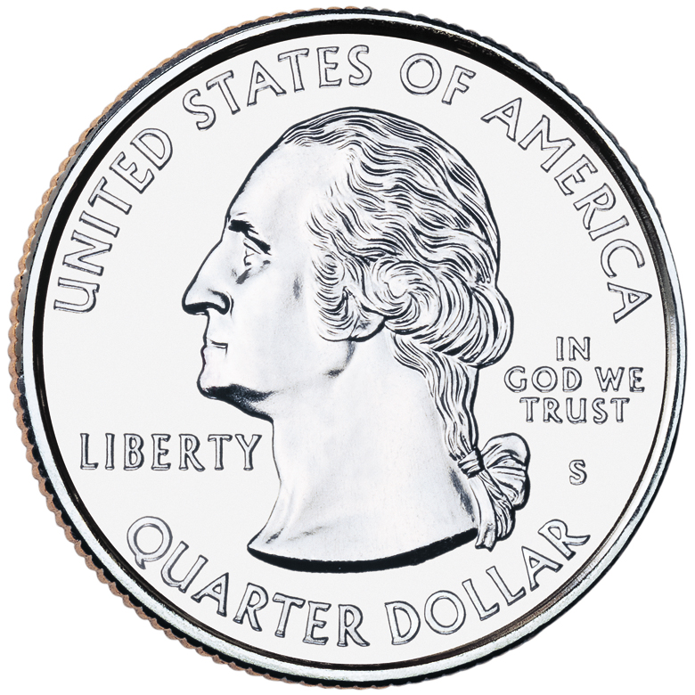 2001 50 State Quarters Coin Uncirculated Obverse