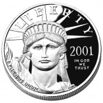 2001 American Eagle Platinum One Ounce Proof Coin Obverse