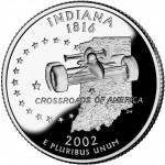 2002 50 State Quarters Coin Indiana Proof Reverse