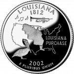 2002 50 State Quarters Coin Louisiana Proof Reverse