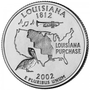 2002 50 State Quarters Coin Louisiana Uncirculated Reverse