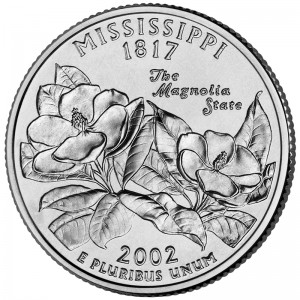 2002 50 State Quarters Coin Mississippi Uncirculated Reverse