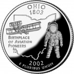 2002 50 State Quarters Coin Ohio Proof Reverse
